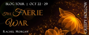 The Faerie War blog tour banner